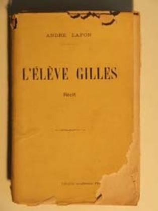 L'élève Gilles | André Lafon