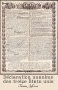 Déclaration unanime des treize États unis d'Amérique