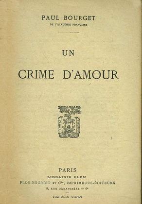 Image de couverture (Un crime d'amour)