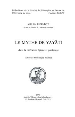 Le Mythe de Yay?ti dans la littérature épique et pur?nique