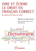Dire et écrire le droit en français correct