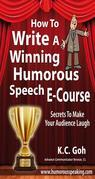 How to Write a Winning Humorous Speech (Ecourse)