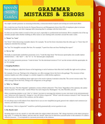 Grammar Mistakes & Errors (Speedy Study Guide)