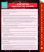 Statistics Equations And Answers (Speedy Study Guide)