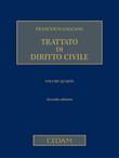 Trattato di diritto civile Vol. V