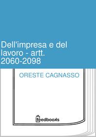 Dell'impresa e del lavoro - artt. 2060-2098