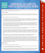 Windows 8.1 Update Quick Reference Guide: Speedy Study Guides