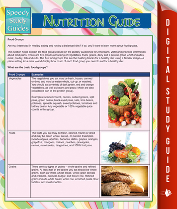 Nutrition Guide (Speedy Study Guide)