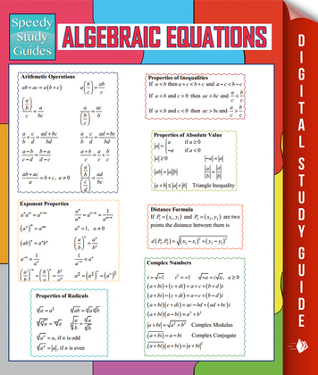 Algebraic Equations (Speedy Study Guides)