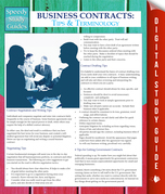 Business Contracts: Tips And Terminology (Speedy Study Guides)