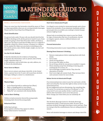 Bartender's Guide To Shooters (Speedy Study Guides)