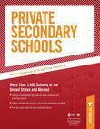 Private Secondary Schools: Special Needs Schools - Part III of V