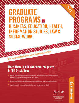 Graduate Programs in Business, Education, Health, Information Studies, Law & Social Work 2011 (Grad 6)