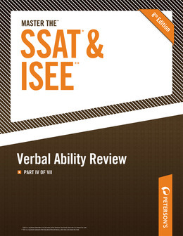 Master the SSAT/ISEE: Verbal Ability Review: Part IV of VII