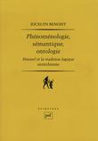 Phénoménologie, sémantique, ontologie