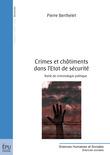 Crimes et châtiments dans l'Etat de sécurité