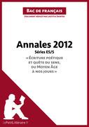 Bac de français 2012 - Annales Série ES/S (Corrigé)