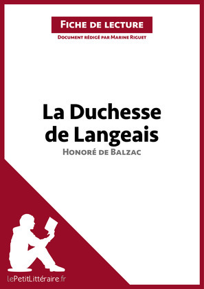 La Duchesse de Langeais d'Honoré de Balzac (Fiche de lecture)