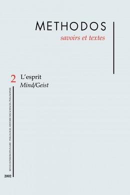2 | 2002 - L'esprit. Mind/Geist - Méthodos