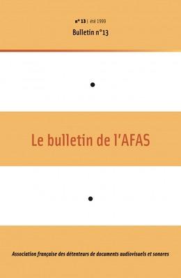 13 | 1999 - Bulletin n°13 - AFAS