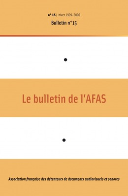 15   1999 - Bulletin n°15 - AFAS