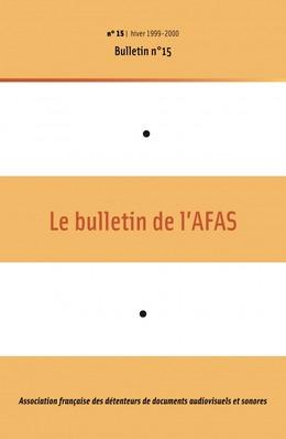 15 | 1999 - Bulletin n°15 - AFAS