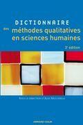 Dictionnaire des méthodes qualitatives en sciences humaines