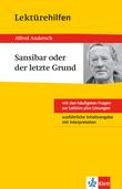 Klett Lektürehilfen - Alfred Andersch, Sansibar oder der letzte Grund
