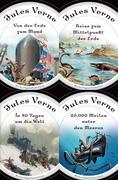 Jules Verne - Romane (20.000 Meilen unter den Meeren - In 80 Tagen um die Welt - Reise zum Mittelpunkt der Erde - Von der Erde zum Mond)
