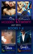 Modern Romance July 2015 Books 1-4