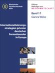 Internationalisierungsstrategien von privaten deutschen Fernsehsendern in Europa