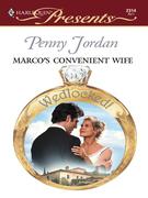 Penny Jordan - Marco's Convenient Wife