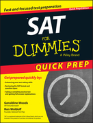 SAT For Dummies: 2015 Quick Prep