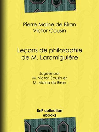 Leçons de philosophie de M. Laromiguière