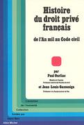 Histoire du droit privé français