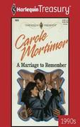 Marriage to Remember