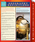 Geography Definitions (Speedy Study Guide)
