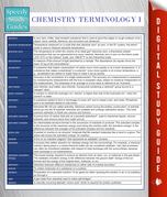 Chemistry Terminology I (Speedy Study Guides)