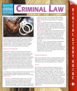 Criminal Law (Speedy Study Guides)