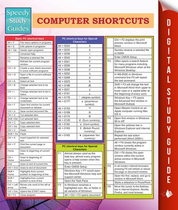 Computer Shortcuts (Speedy Study Guides)