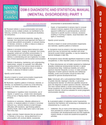 DSM-5 Diagnostic and Statistical Manual (Mental Disorders) Part 1: (Speedy Study Guides)