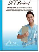 DET Review!  Complete Diagnostic Entrance Test Study Guide and Practice Test Questions
