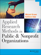 Applied Research Methods in Public and Nonprofit Organizations