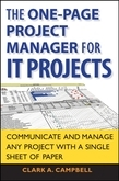 The One Page Project Manager for IT Projects