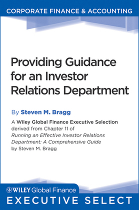 Providing Guidance for an Investor Relations Department