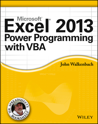 Excel 2013 Power Programming with VBA.