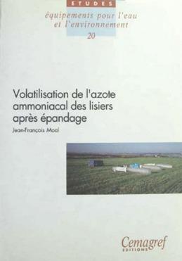 Volatilisation de l'azote ammoniacal des lisiers après épandage