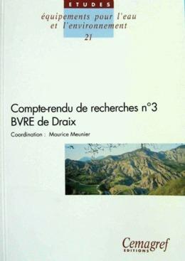 Compte-rendu de recherches n° 3 BVRE de Draix