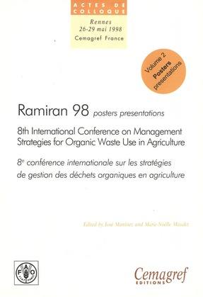 Ramiran 98. Proceedings of the 8th International Conference on Management Strategies for Organic Waste in Agriculture
