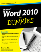 Word 2010 For Dummies